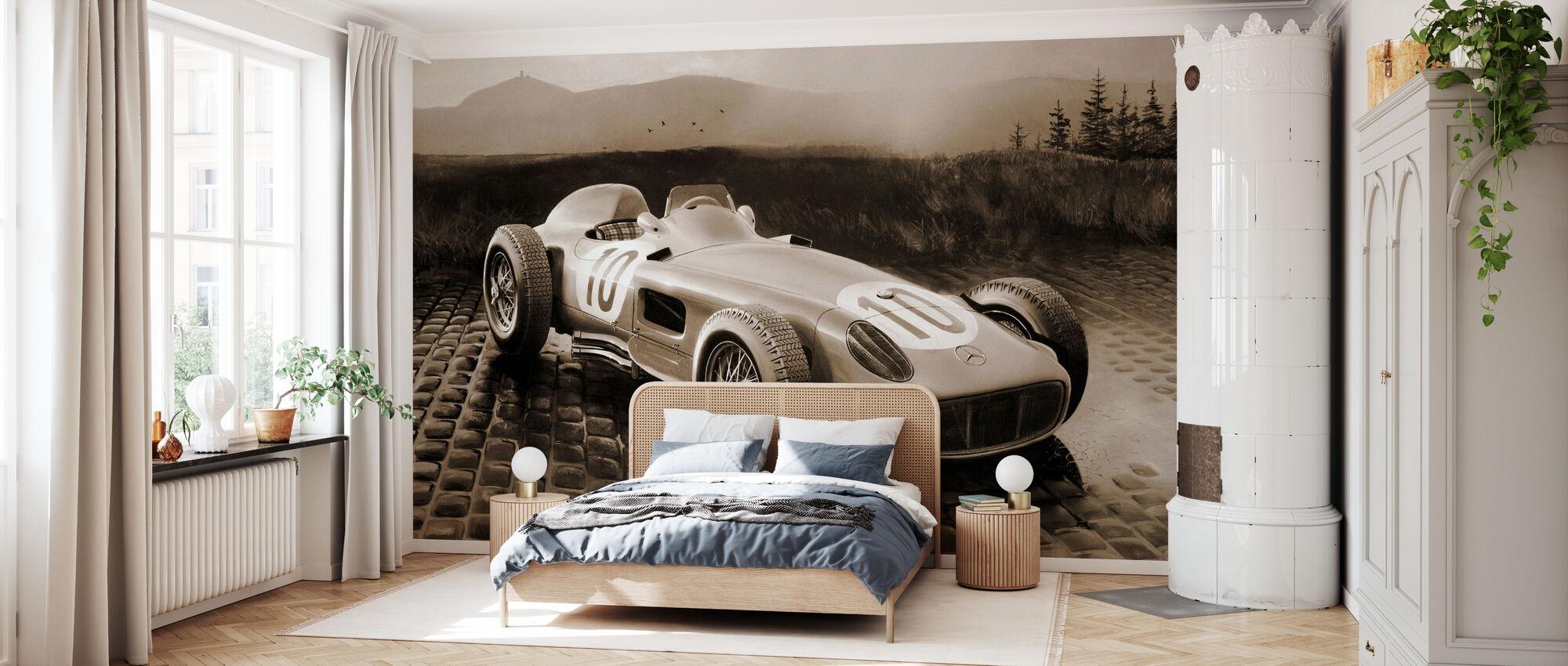 Car 1954 Sepia - Wallpaper - Bedroom