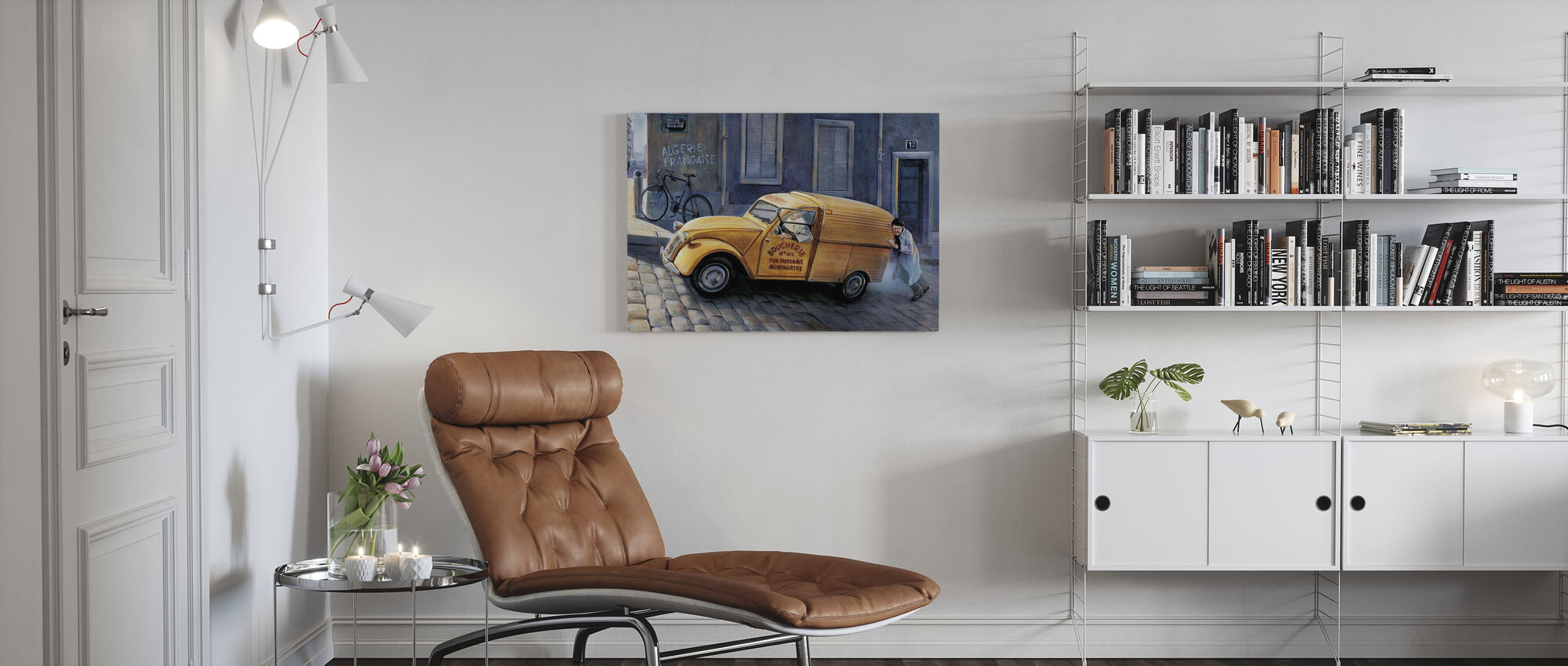 Auto in Parijs - Canvas print - Woonkamer