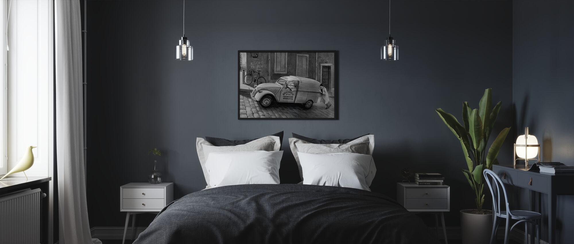 Car In Paris BW - Poster - Bedroom