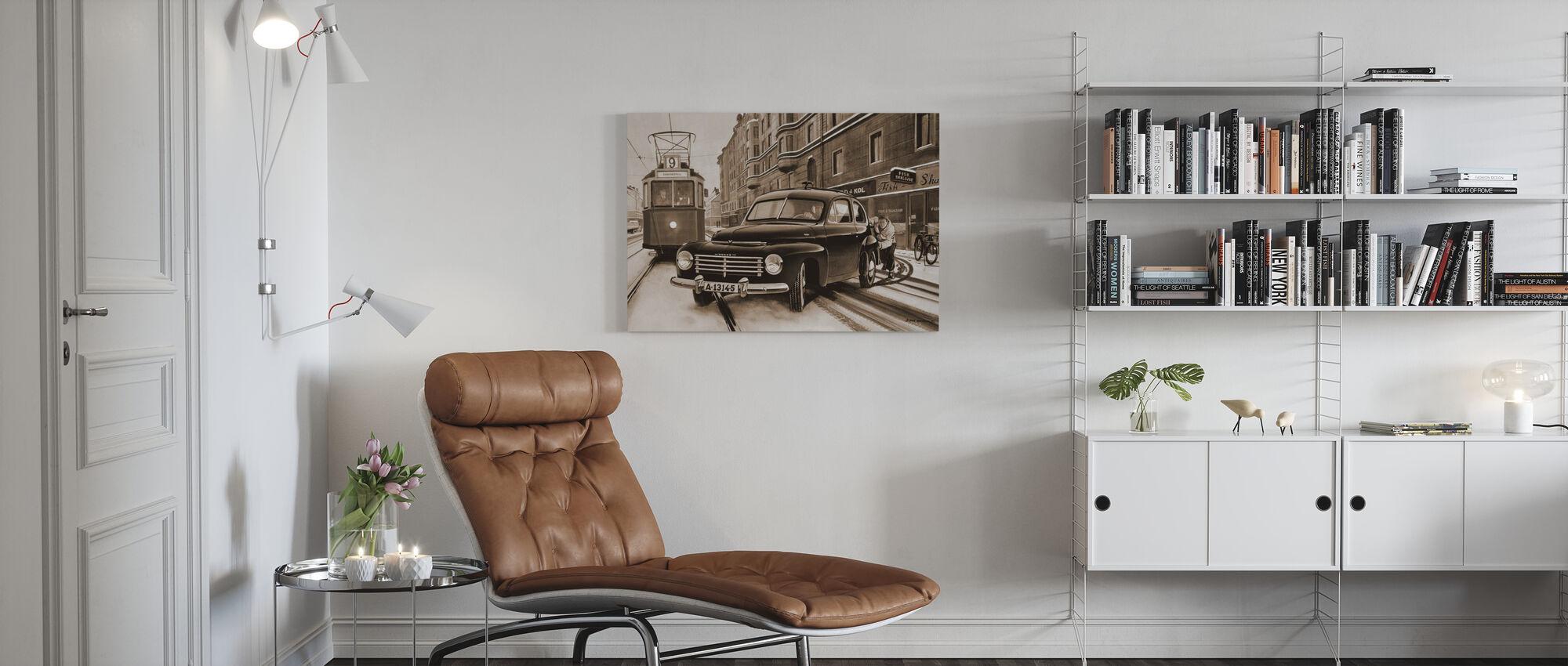 PV In Stockholm, Zweden - Canvas print - Woonkamer