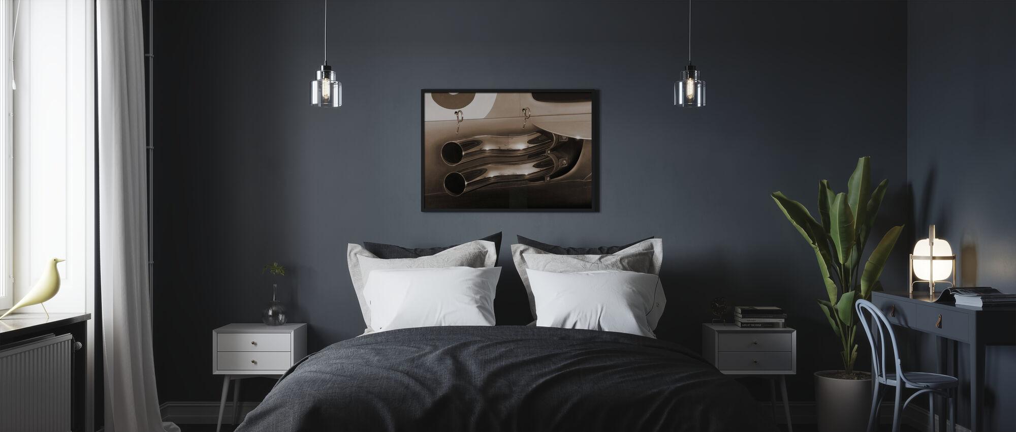 Tubi Scarico Sepia - Poster - Camera da letto