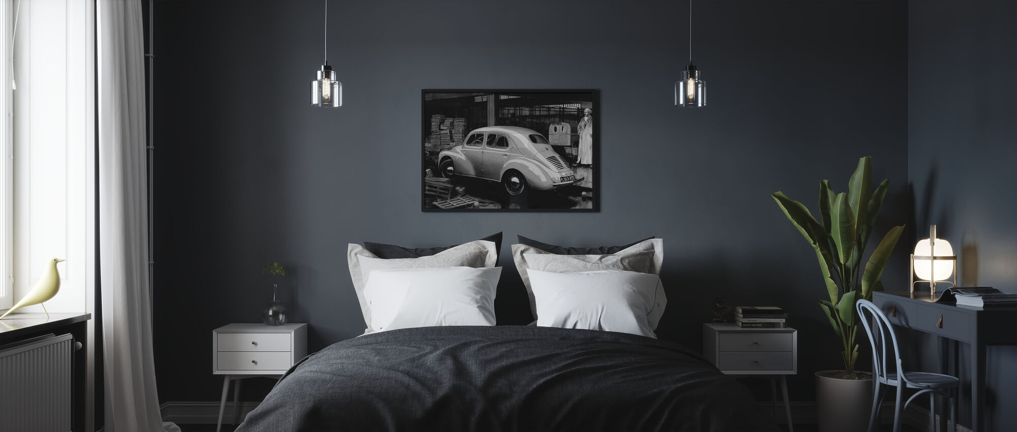 Classic Car BW - Poster - Bedroom