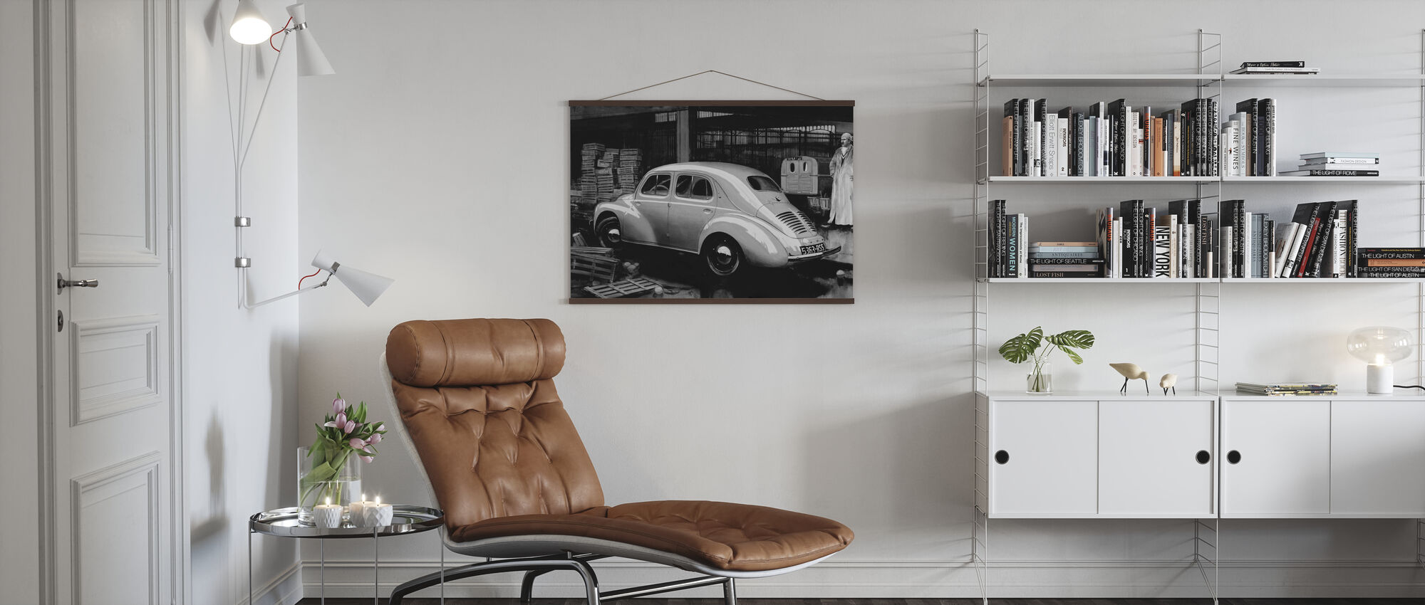 Classic Car BW - Poster - Living Room