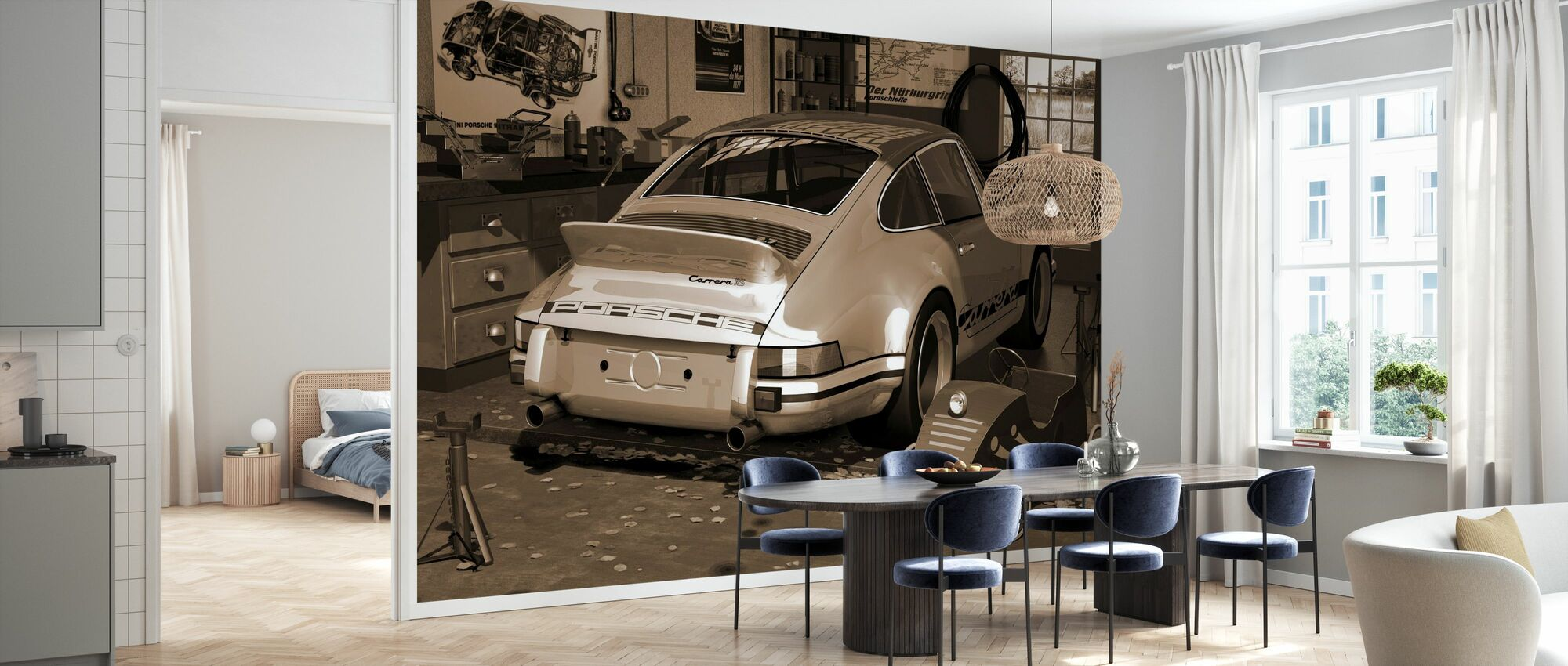 My first and second car - Sepia - Wallpaper - Kitchen