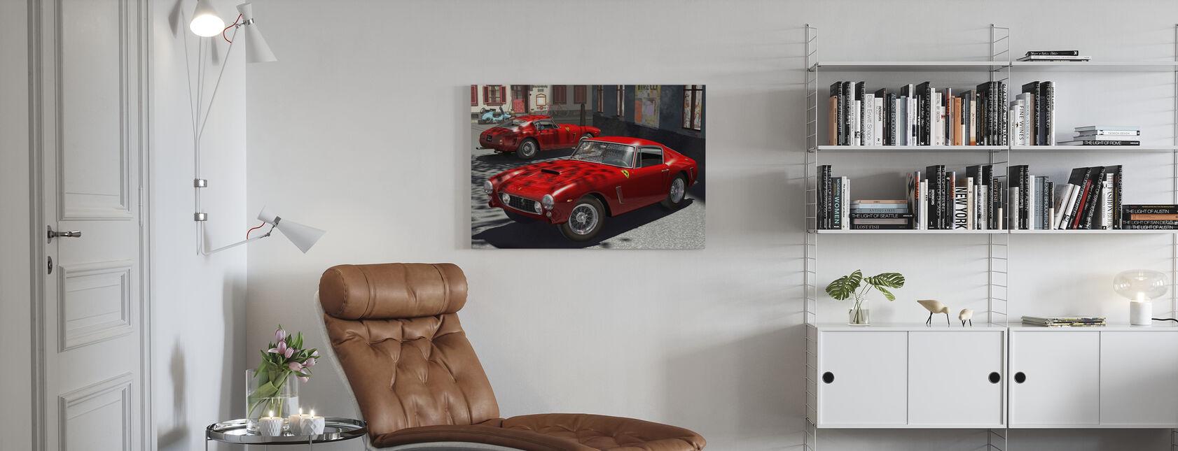 Klassisk sportsvogn - Billede på lærred - Stue