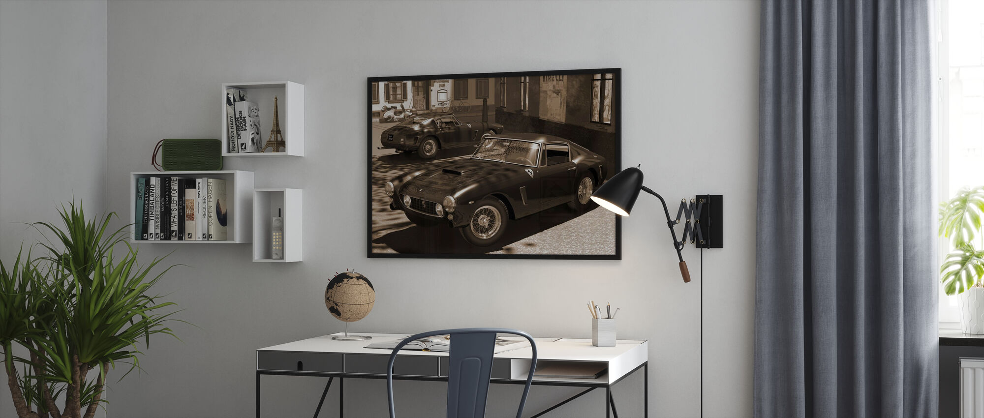 Classic Sports Car Sepia - Poster - Office