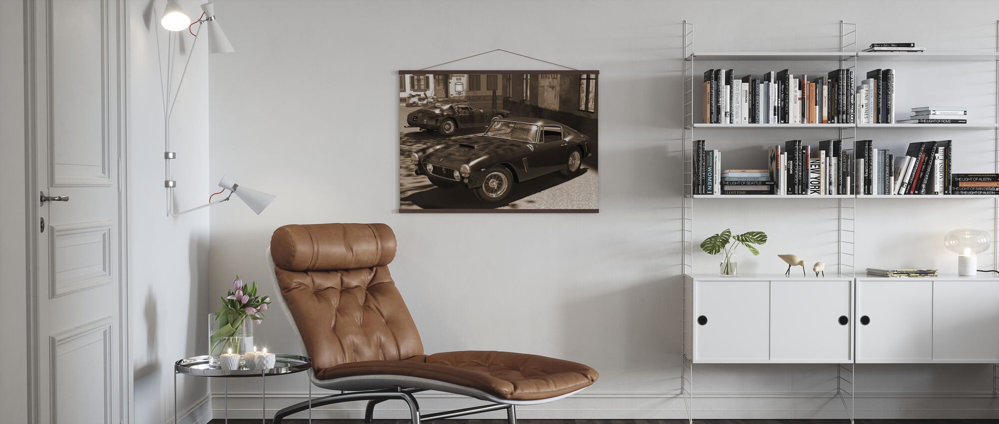 Classic Sports Car Sepia - Poster - Living Room