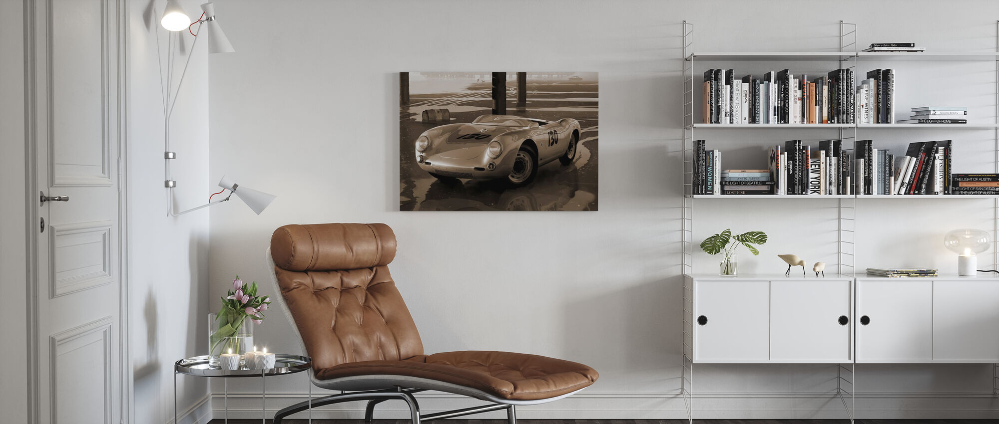 Jimmys car Sepia - Canvas print - Living Room