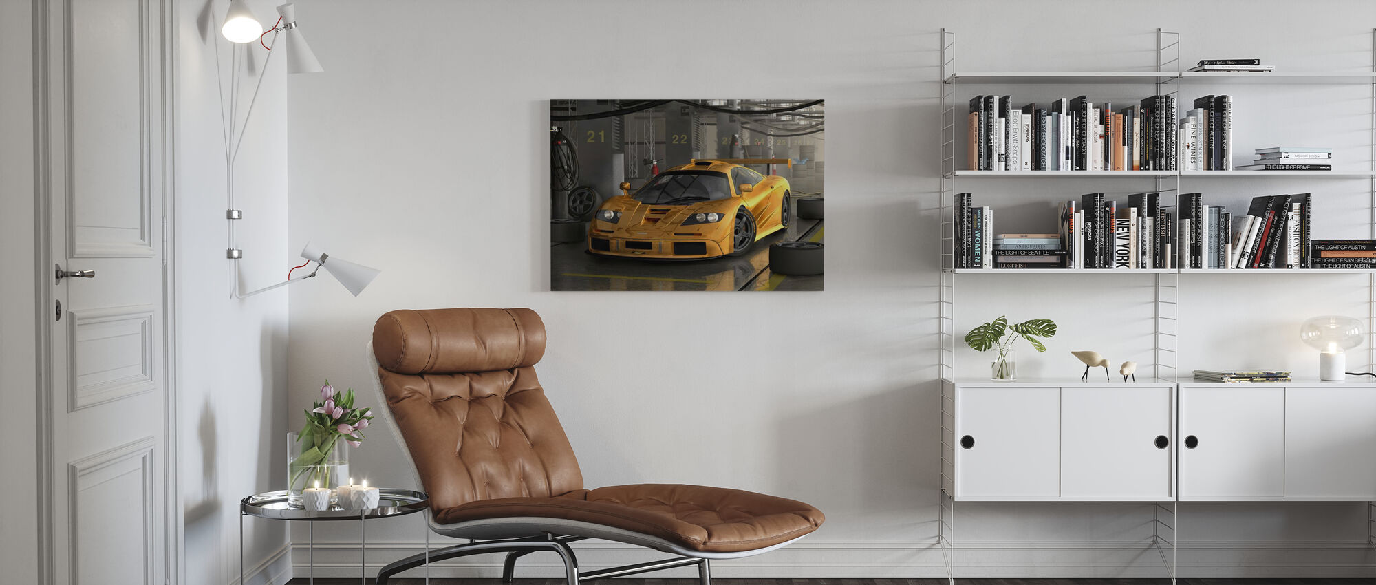 Snelle auto - Canvas print - Woonkamer