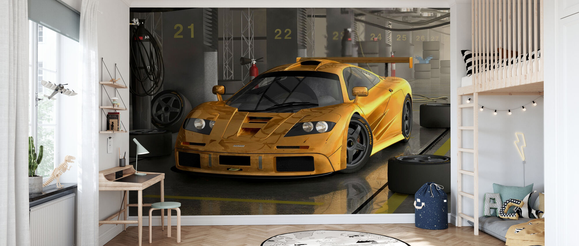 Fast Car - Wallpaper - Kids Room