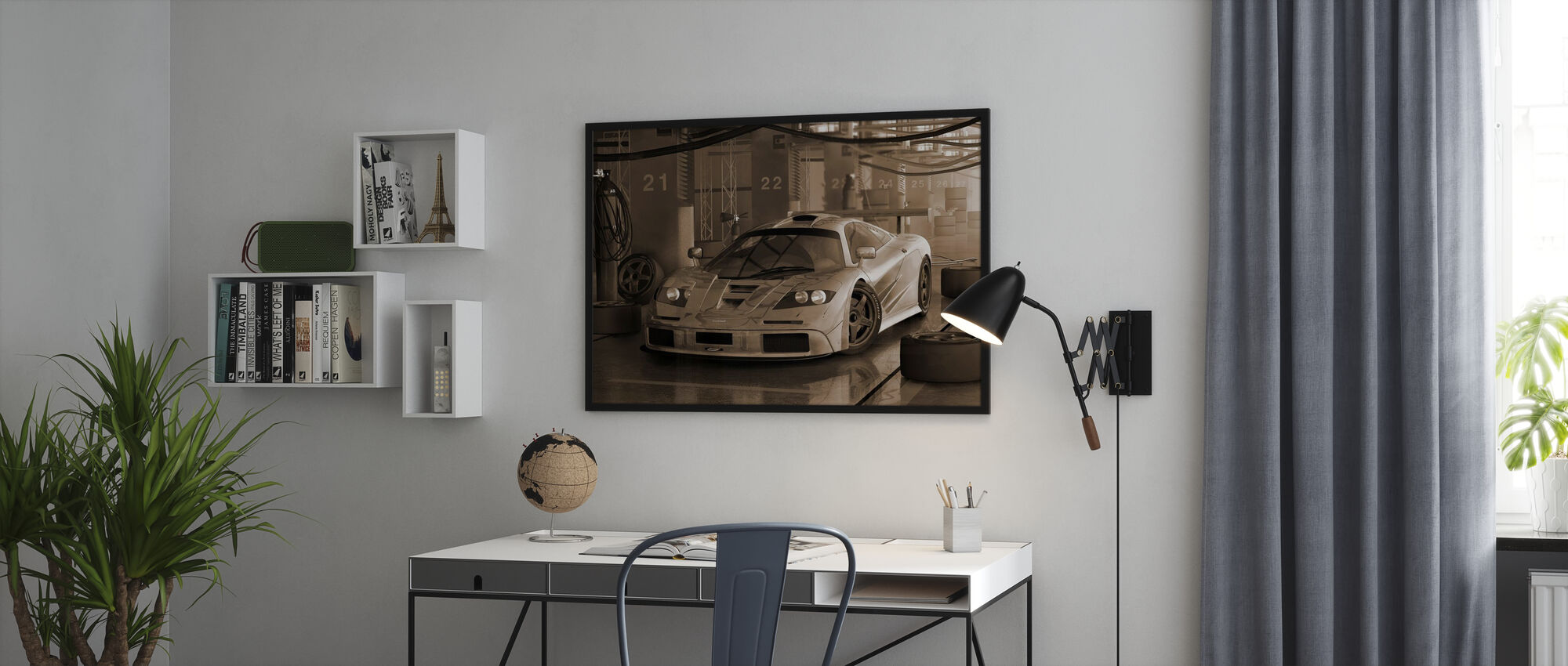 Fast Car Sepia - Poster - Office