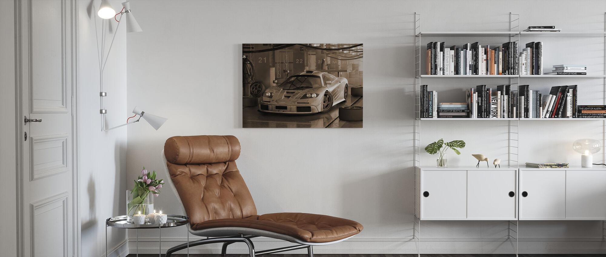 Fast Car Sepia - Canvas print - Living Room