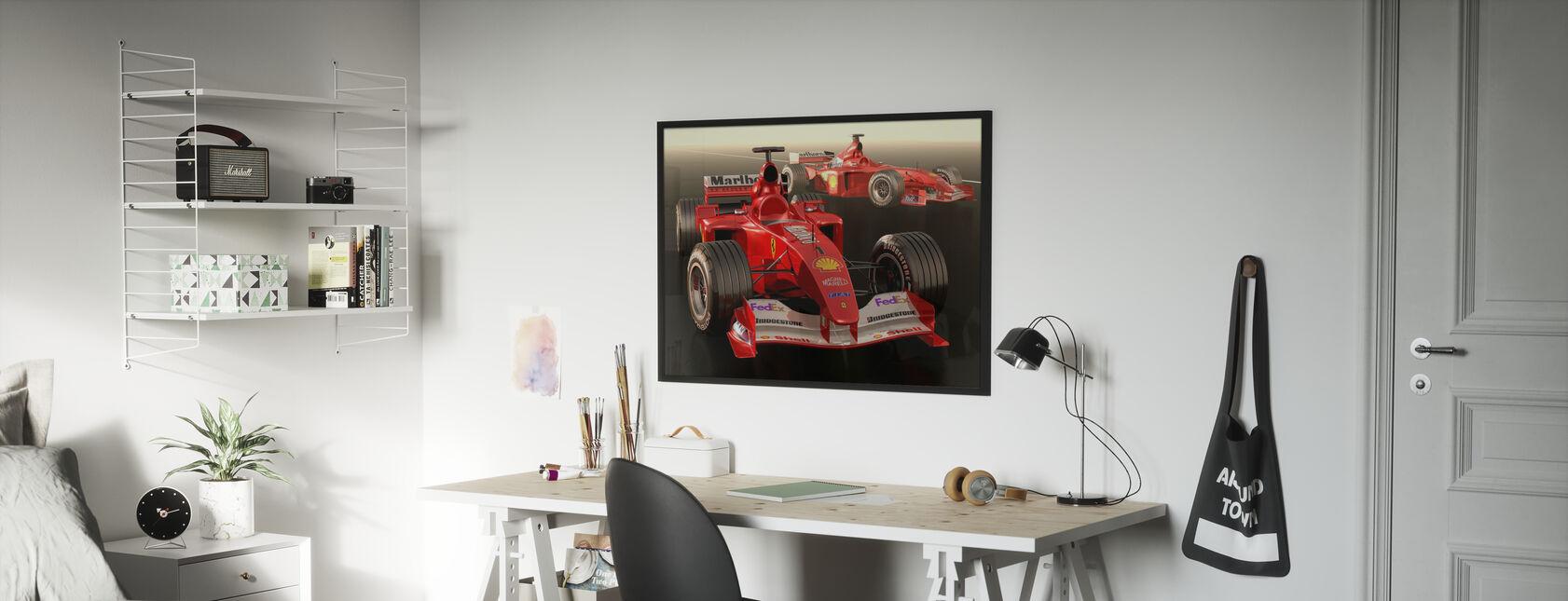 Klassisk Racing Bil - Innrammet bilde - Barnerom