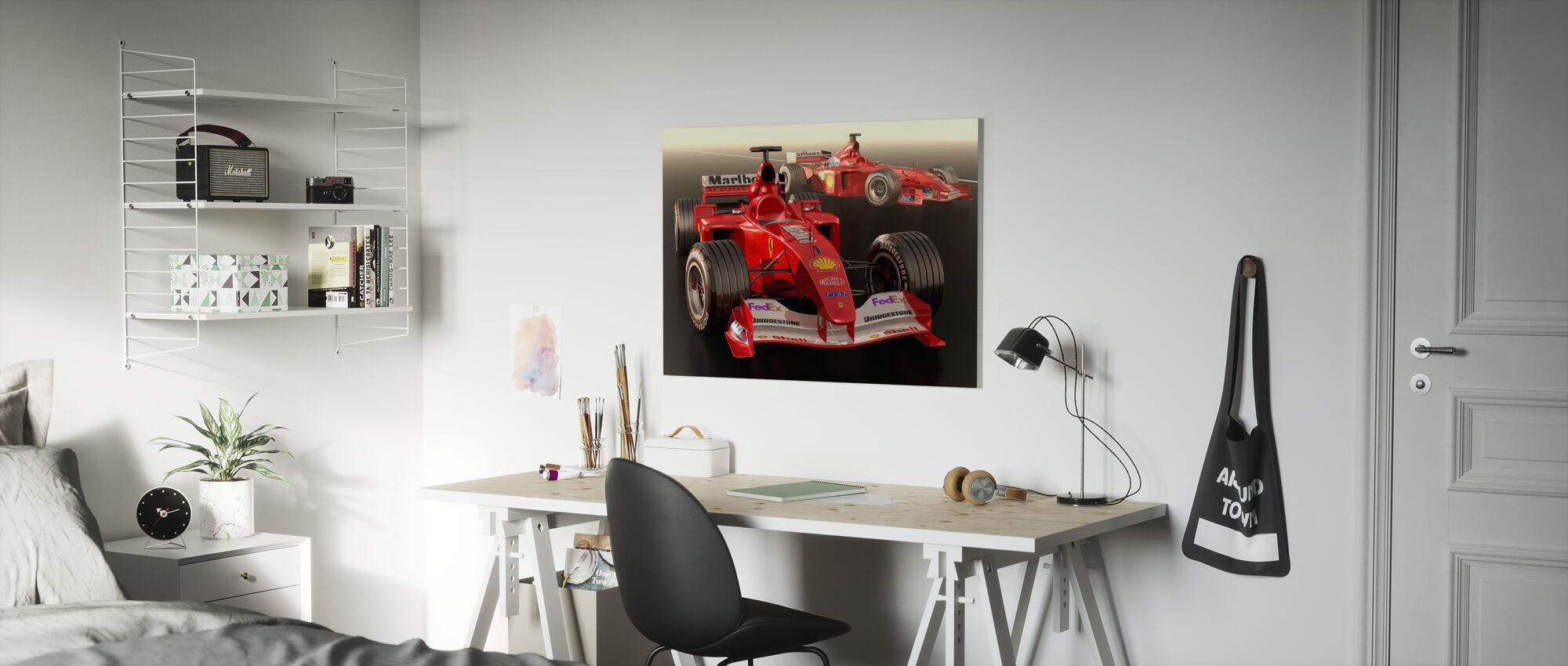 Classic Racing Car - Canvas print - Kids Room