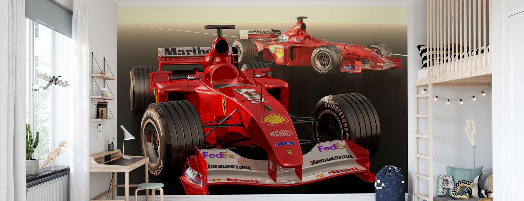 Classic Racing Car - Wallpaper - Kids Room