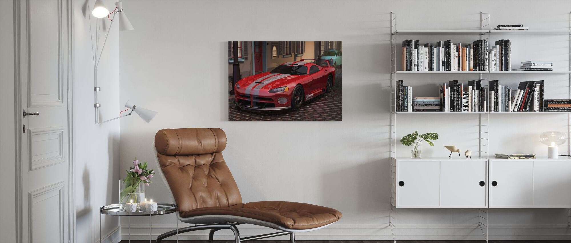 Red Fast Car - Canvas print - Living Room