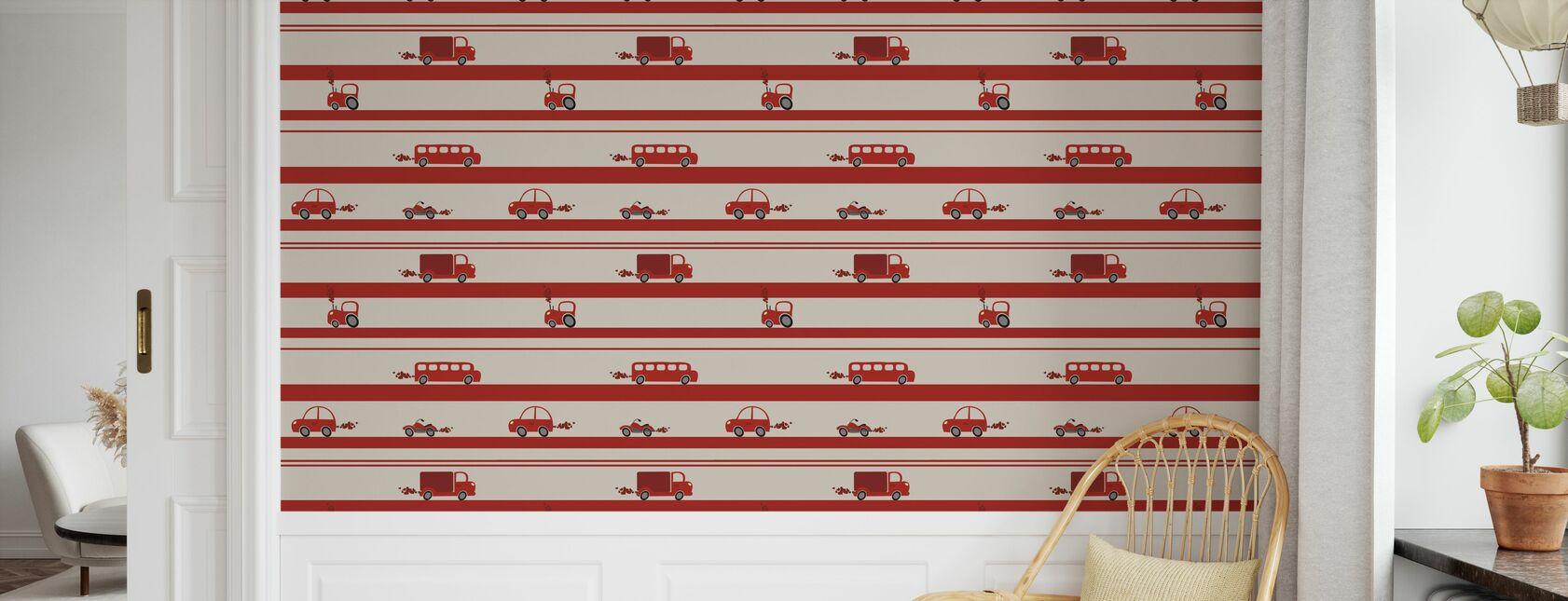 Brum Brum - Red - Papier peint - Chambre des enfants
