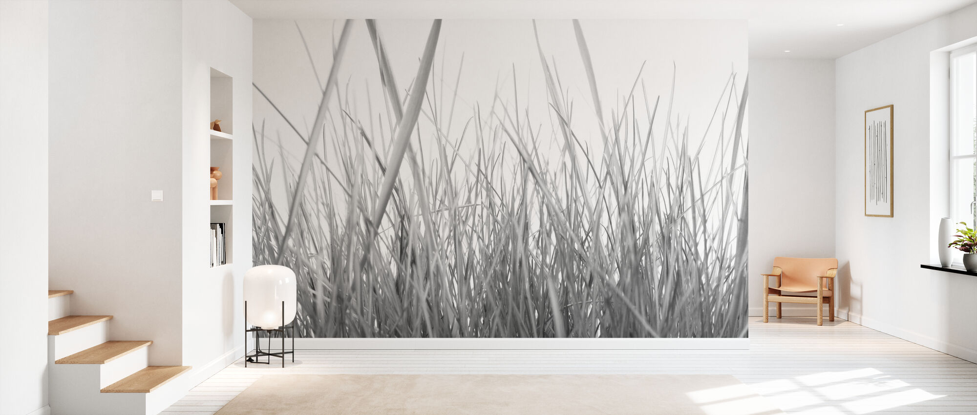 High Grass - b/w - Wallpaper - Hallway