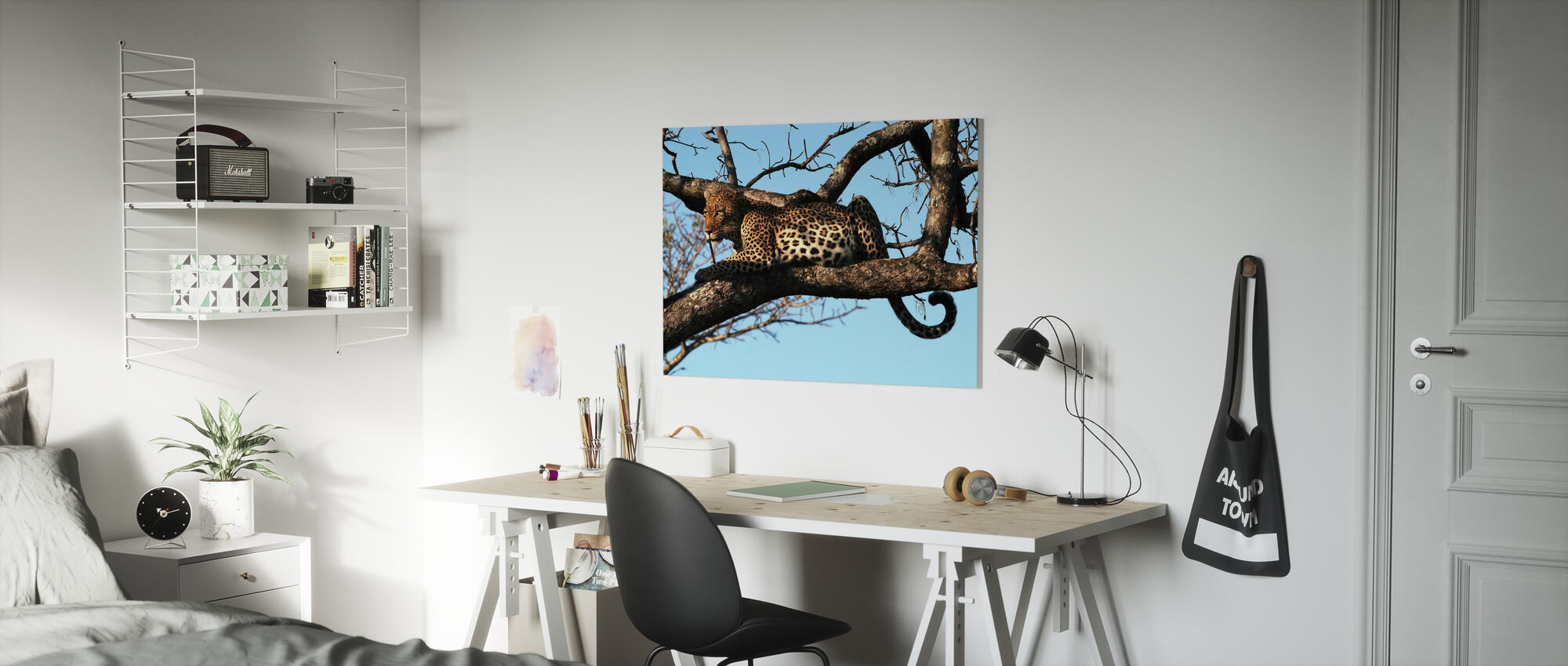 Luipaard in Boom - Canvas print - Kinderkamer