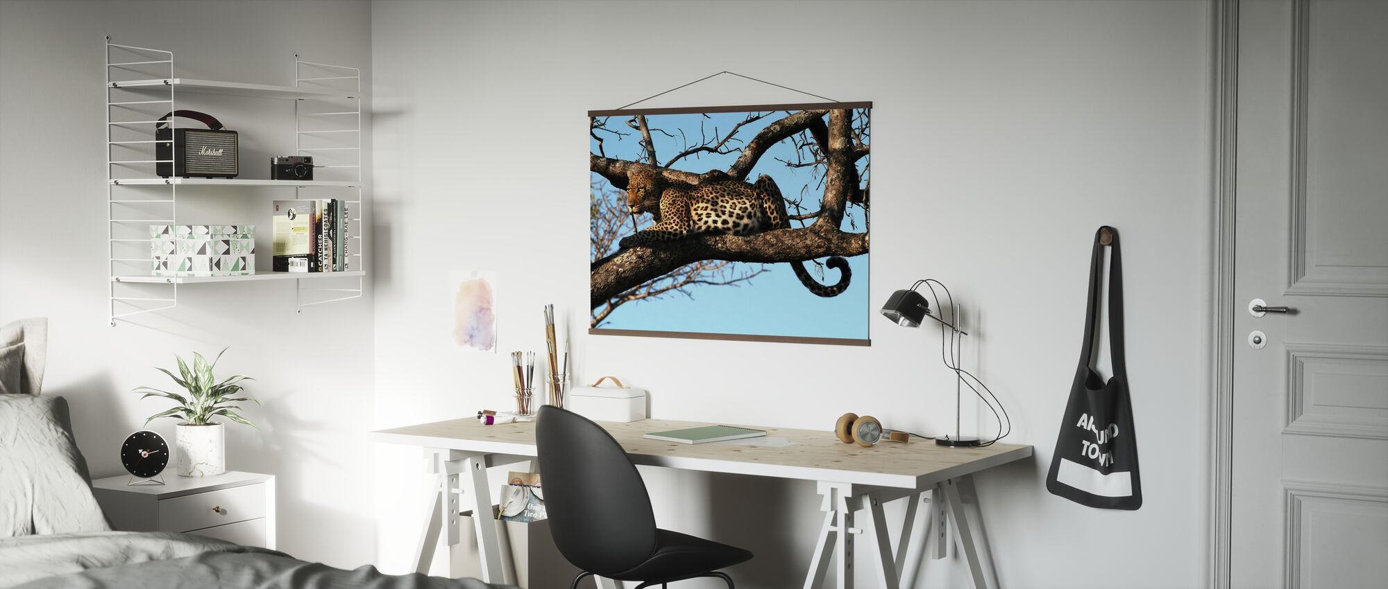 Leopard i Træ - Plakat - Kontor
