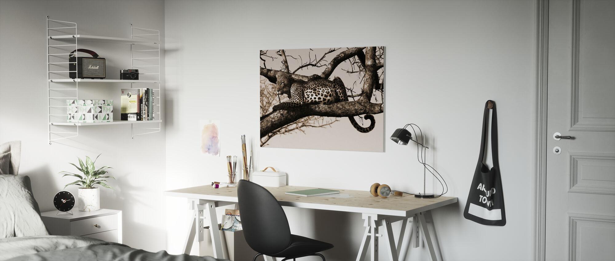 Leopard in Tree - Canvas print - Kids Room