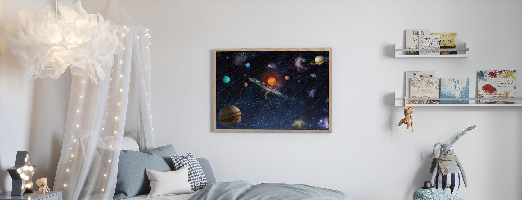 Sistema Solare - Stampa incorniciata - Camera dei bambini