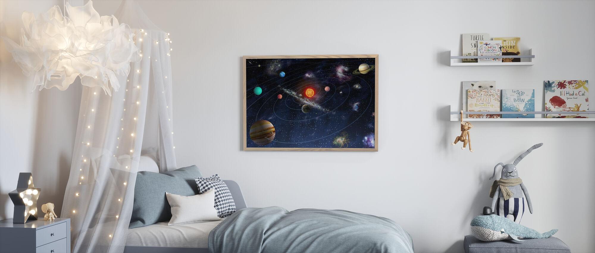 Zonnestelsel - Ingelijste print - Kinderkamer
