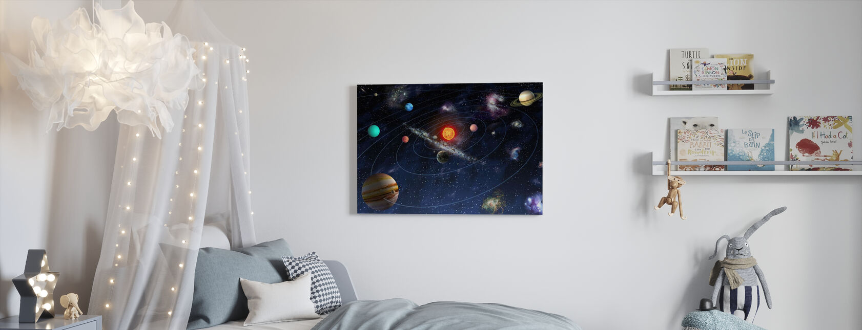 Solar System - Canvas print - Kids Room