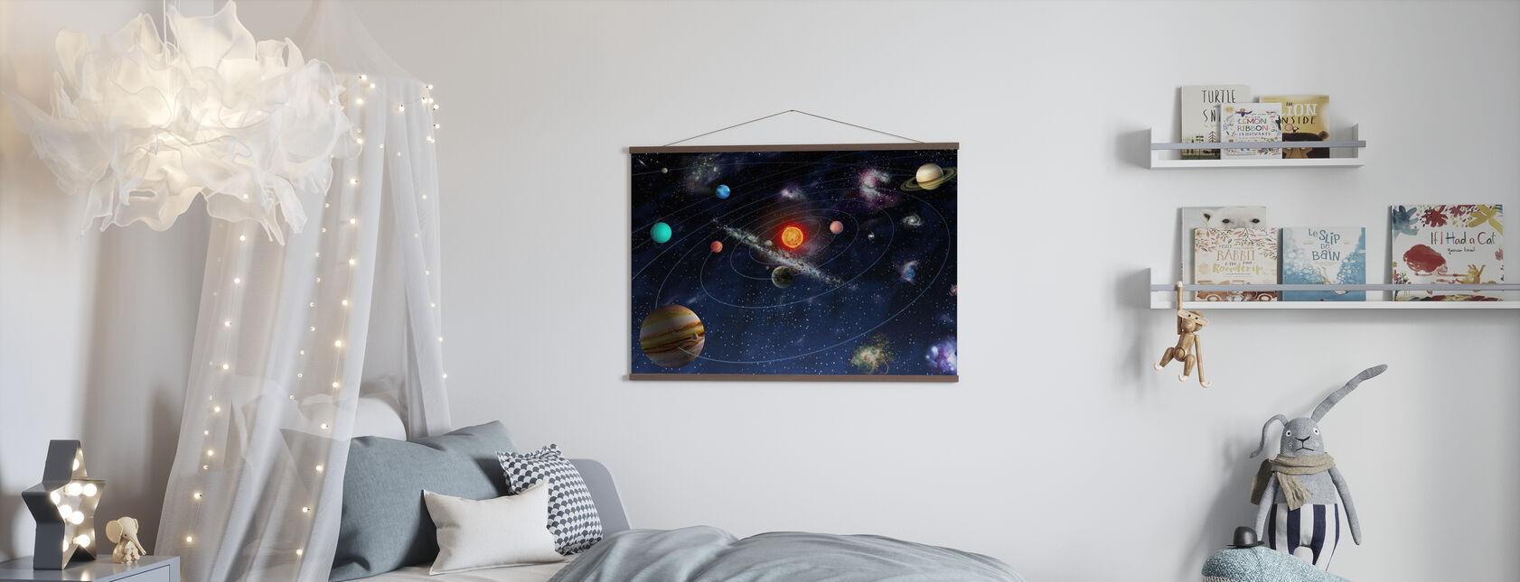 Solsystem - Poster - Barnrum