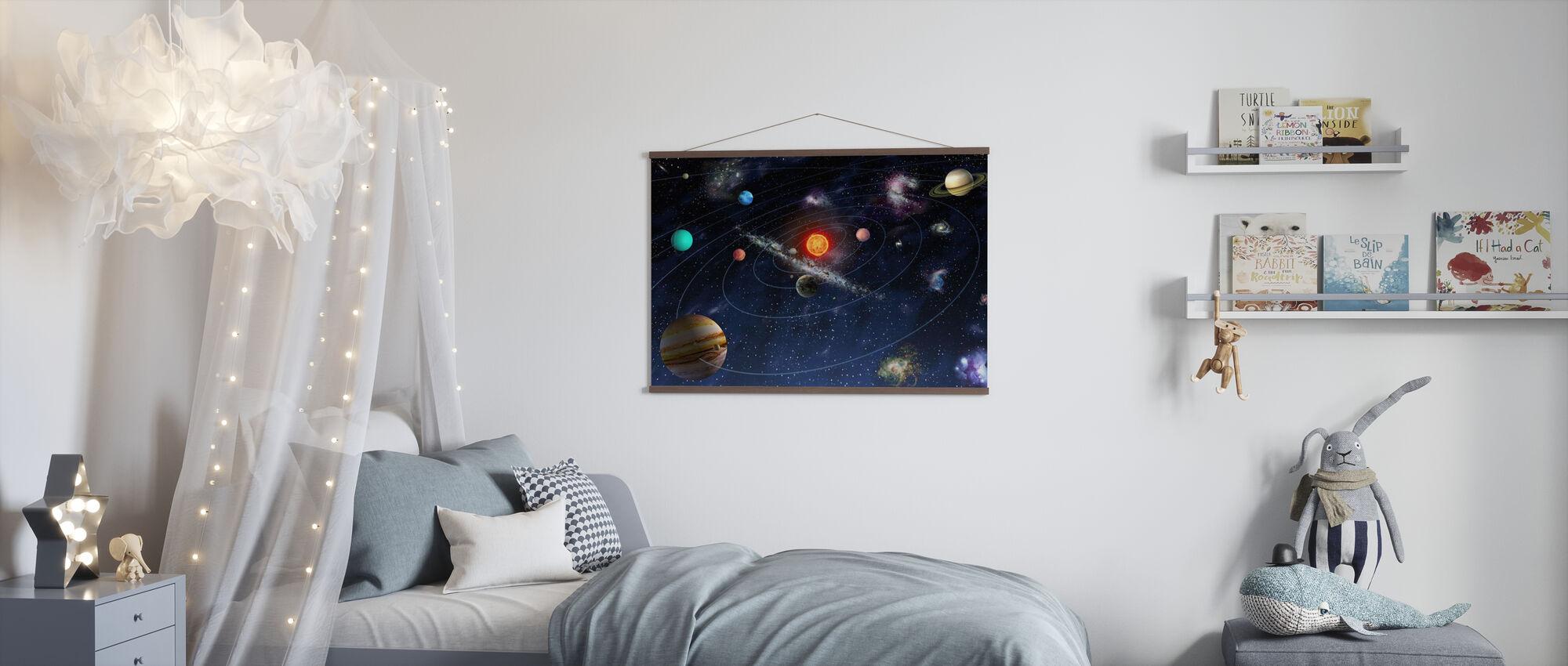 Système solaire - Affiche - Chambre des enfants