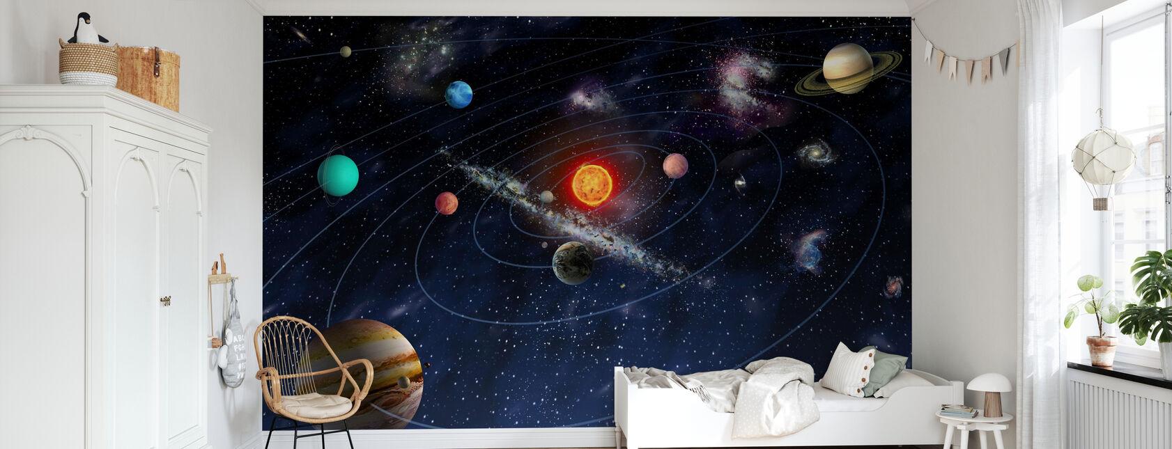Solar System - Wallpaper - Kids Room