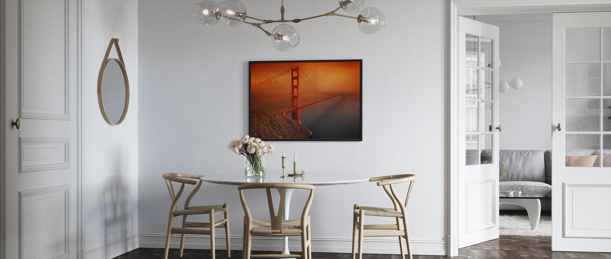 Golden Gate - Framed print - Kitchen