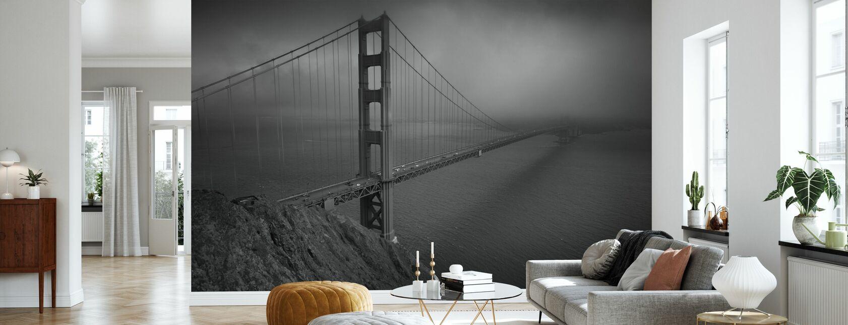 Golden Gate - b/w - Tapet - Vardagsrum