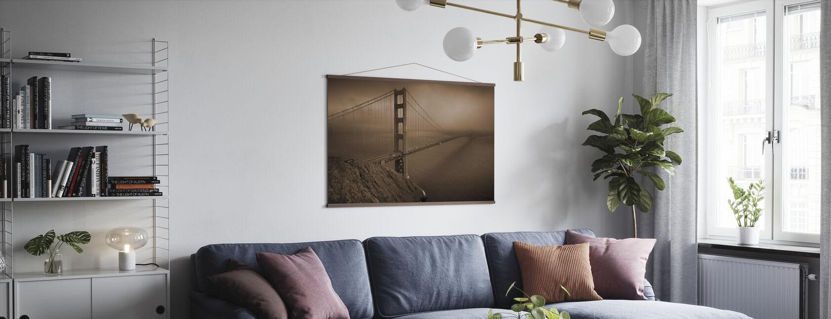 Golden Gate - Sépia - Affiche - Salle à manger