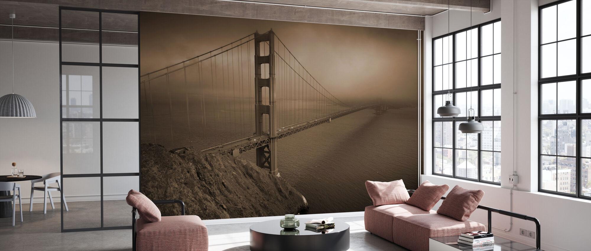 Golden Gate - Sepia - Wallpaper - Office