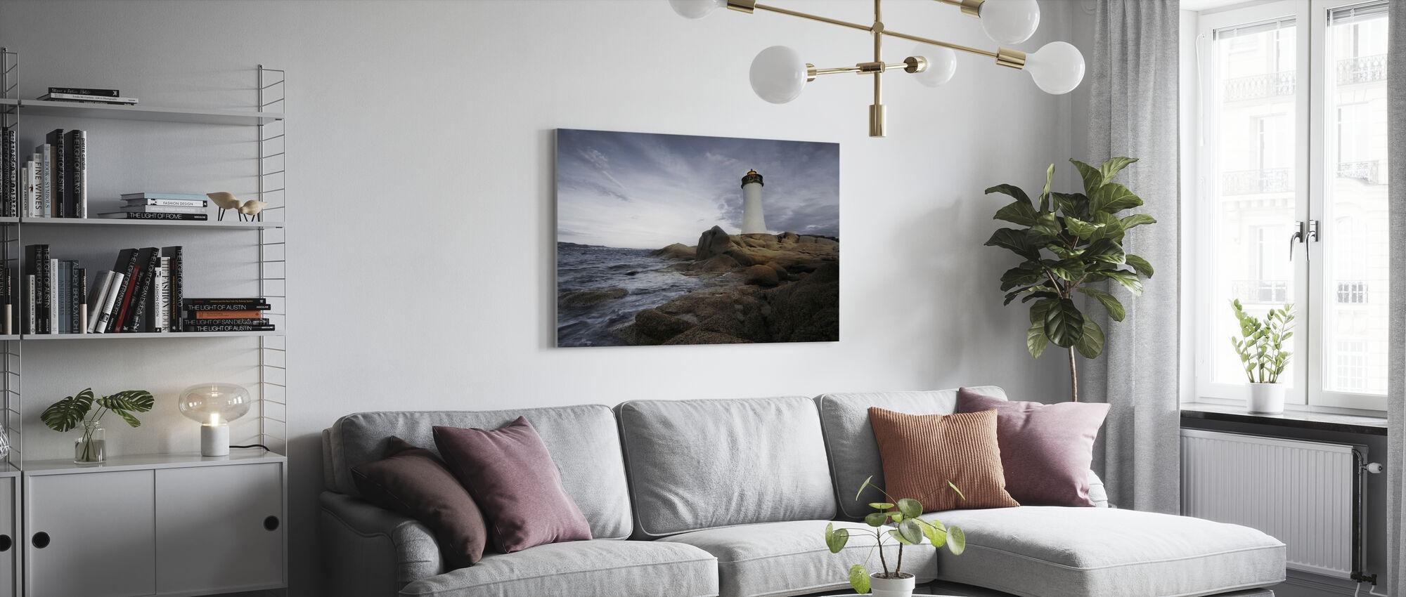 Sardinia Lighthouse - Canvas print - Living Room