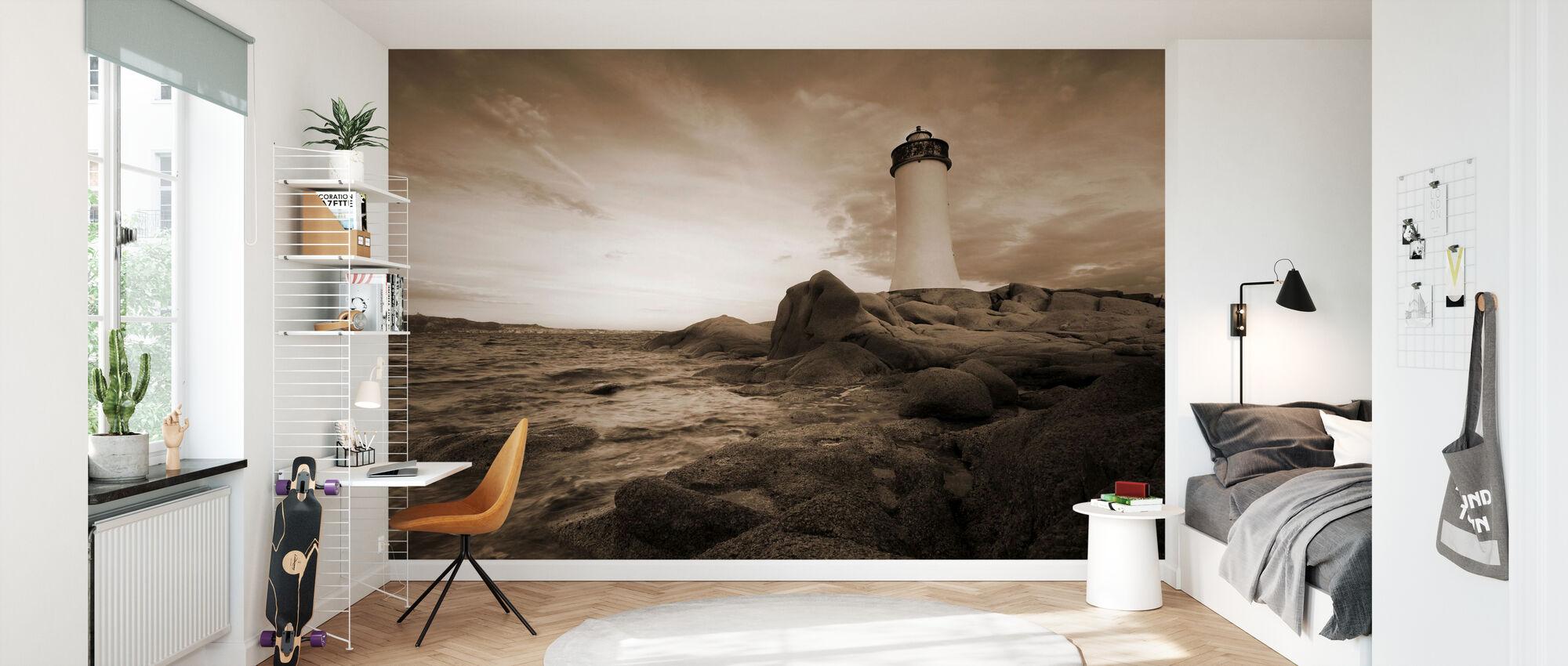 Sardinia Lighthouse - Wallpaper - Kids Room