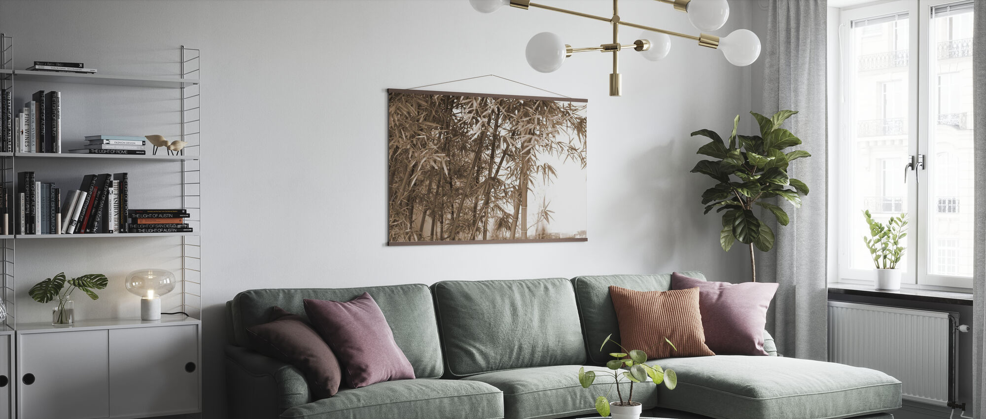 Vakker bambus - Plakat - Stue