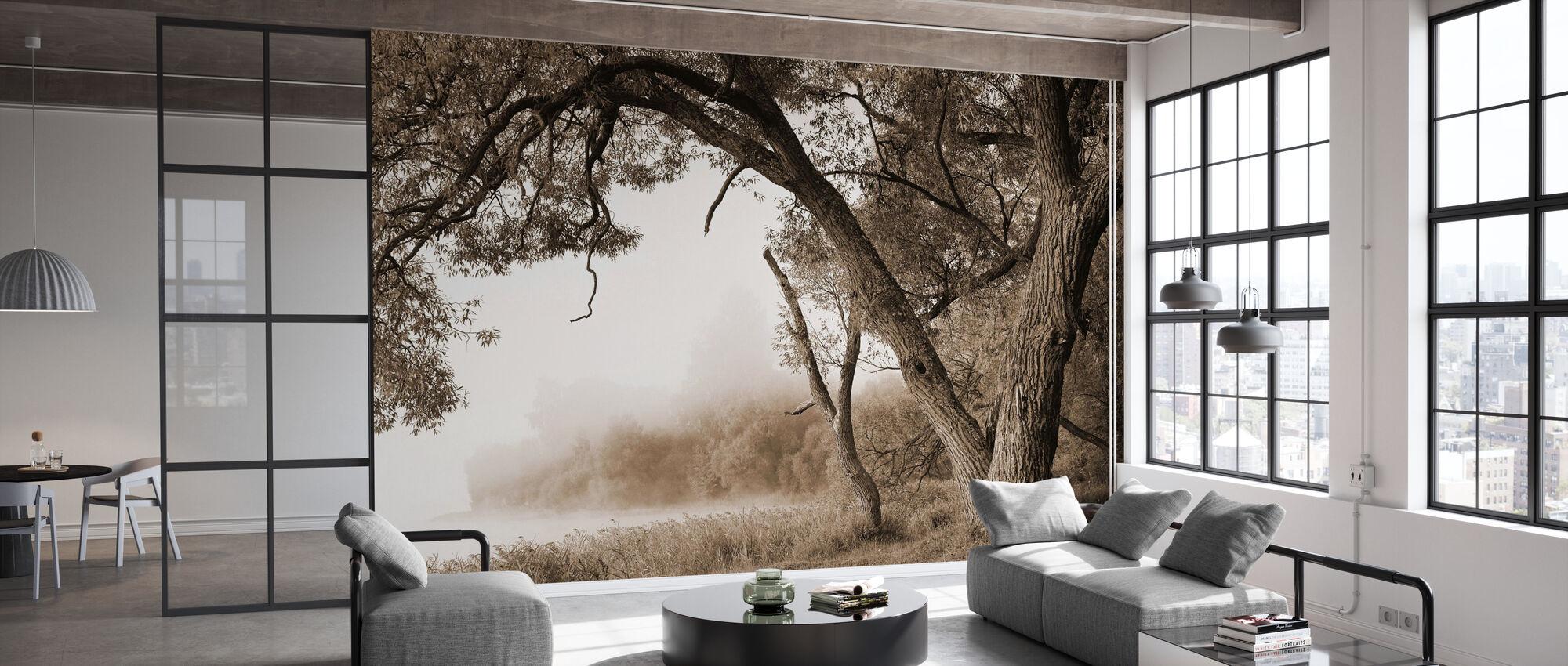 Tree in a Fog - Wallpaper - Office