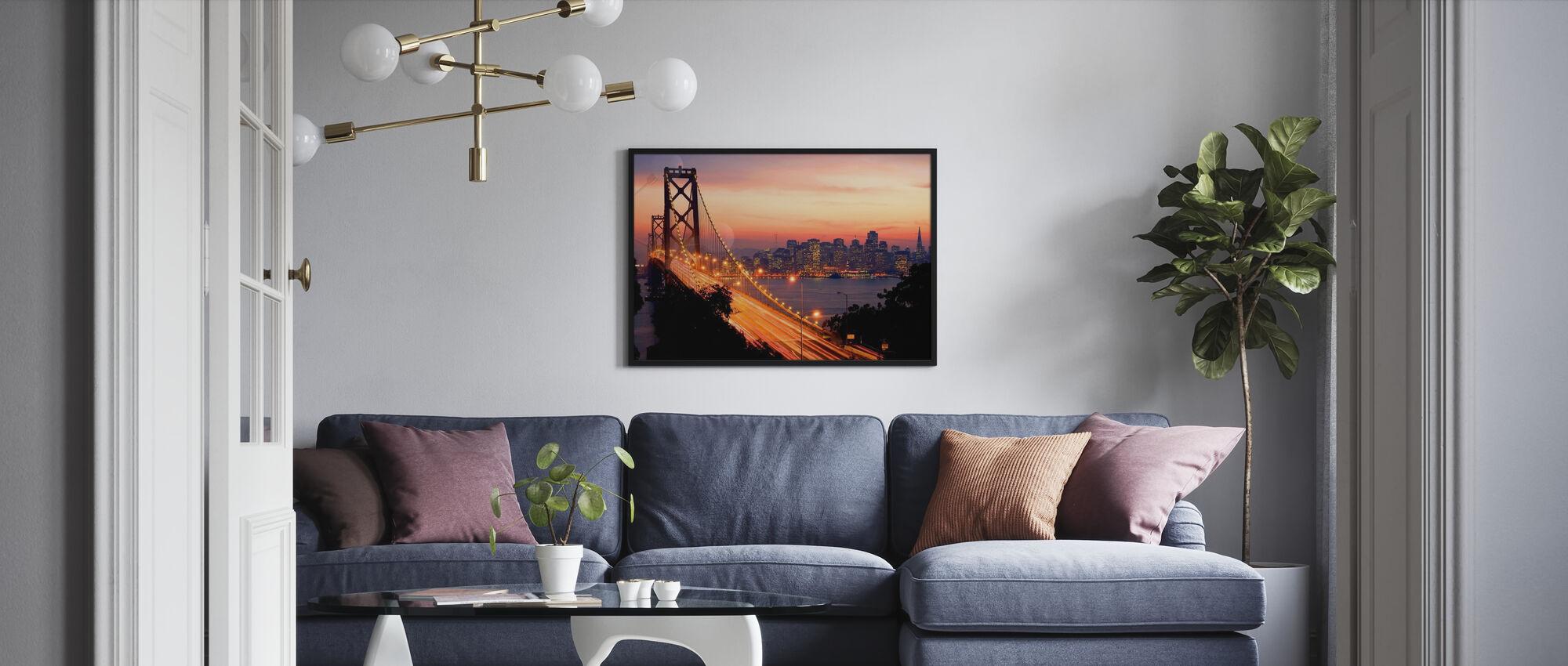San Francisco, Kalifornien, USA - Inramad tavla - Vardagsrum