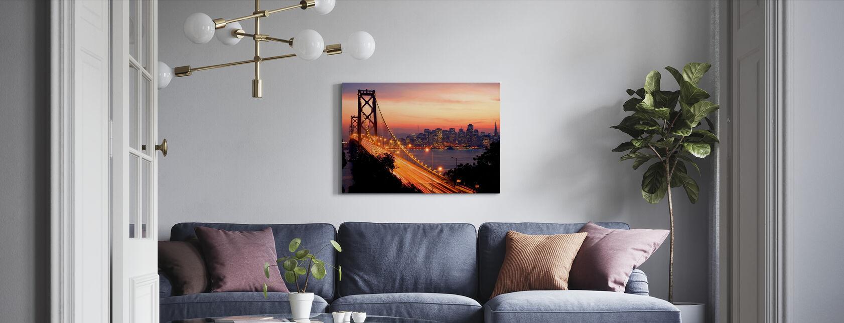 San Francisco, Kalifornia, Yhdysvallat - Canvastaulu - Olohuone