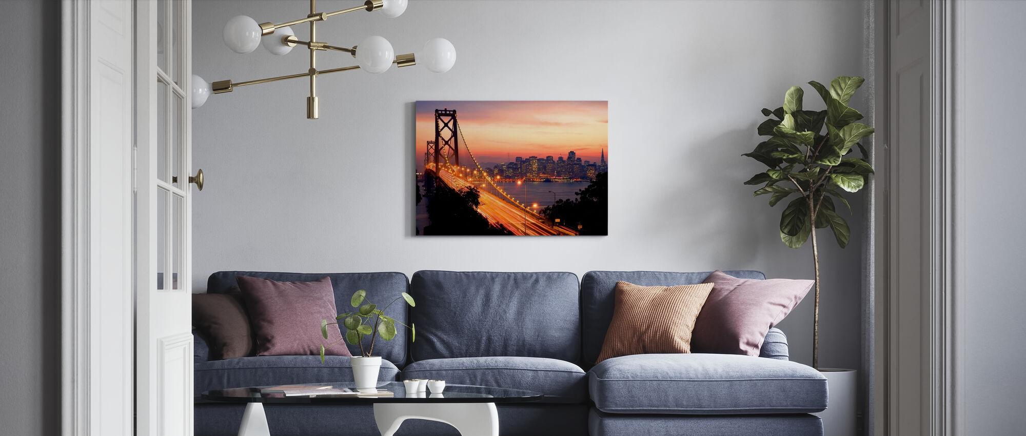 San Francisco, California, USA - Billede på lærred - Stue