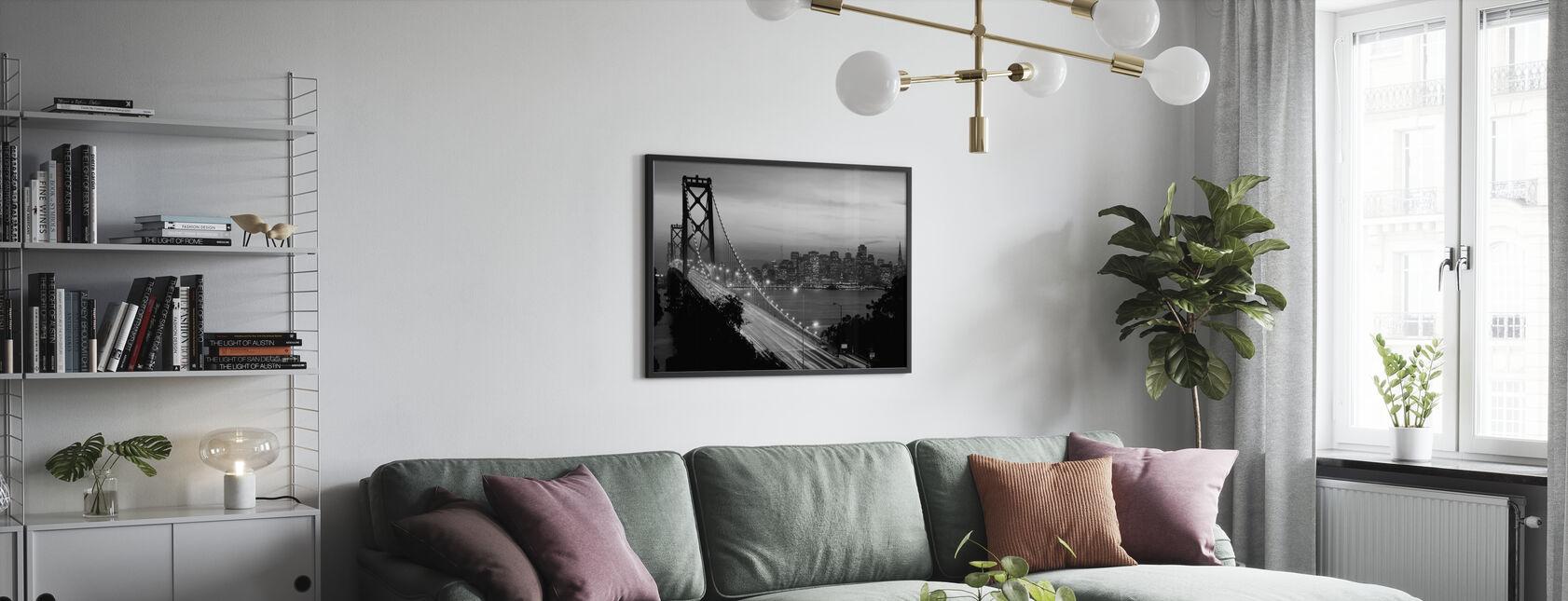 San Francisco, Kalifornia, Yhdysvallat - Kehystetty kuva - Olohuone