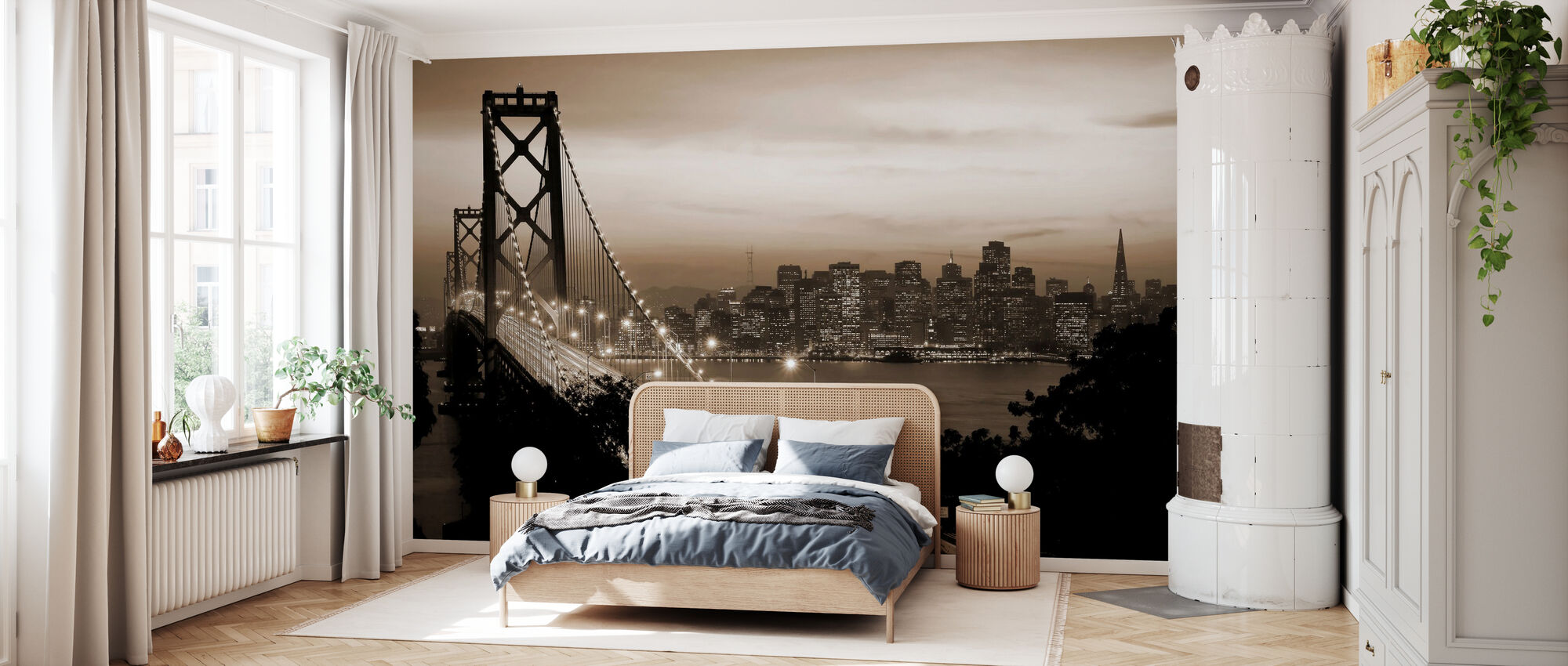 San Francisco, California, USA - Wallpaper - Bedroom
