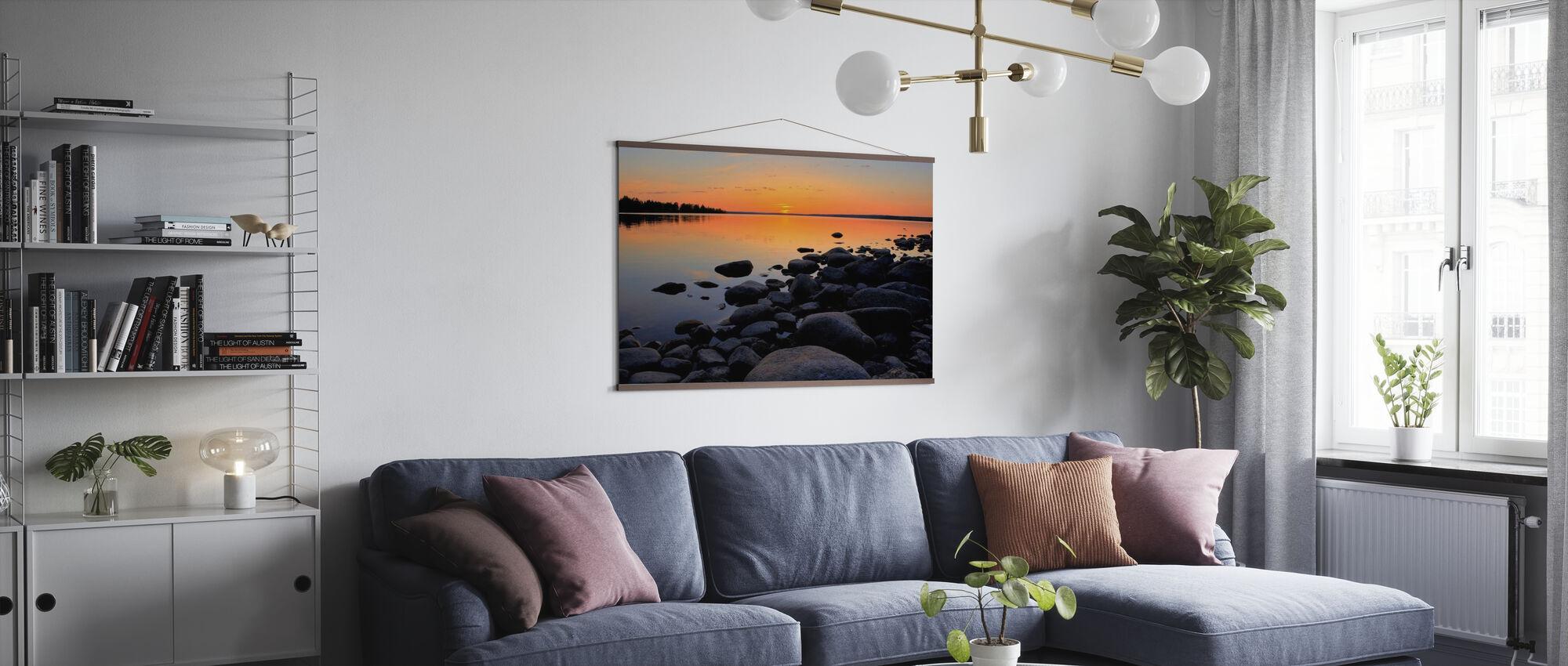 Nord de la Suède Soleil de minuit - Affiche - Salle à manger