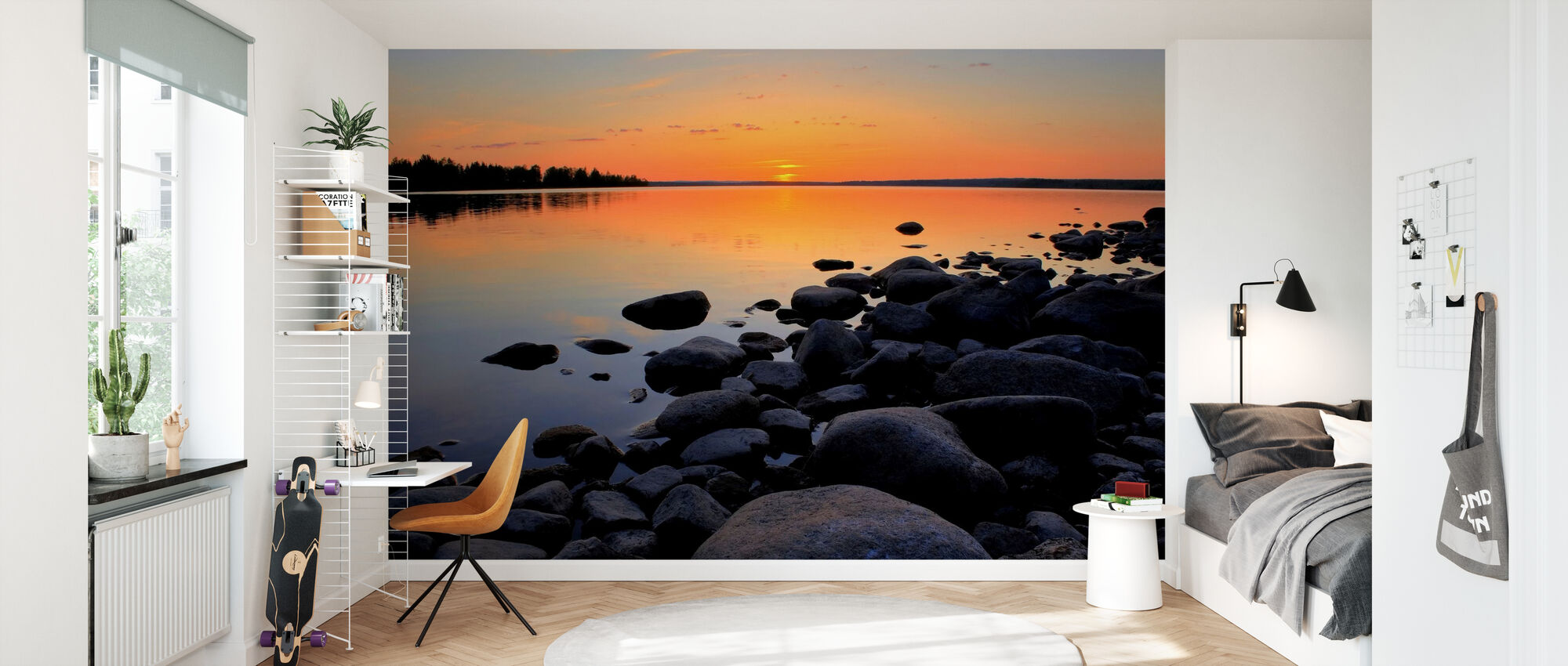 Northern Sweden Midnight Sun - Wallpaper - Kids Room
