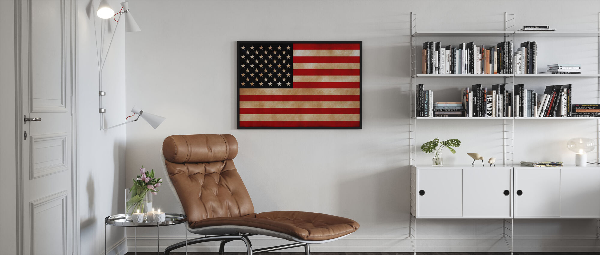 USA Flag - Poster - Living Room