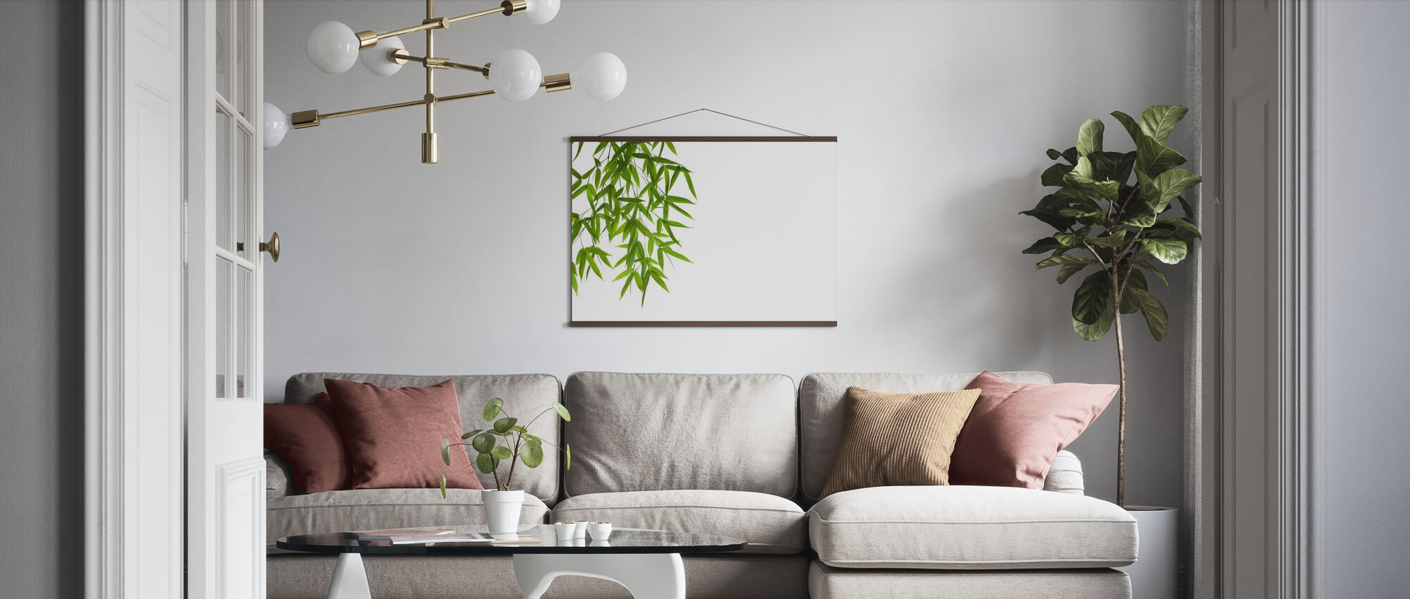 Hanging Bamboo - Poster - Living Room