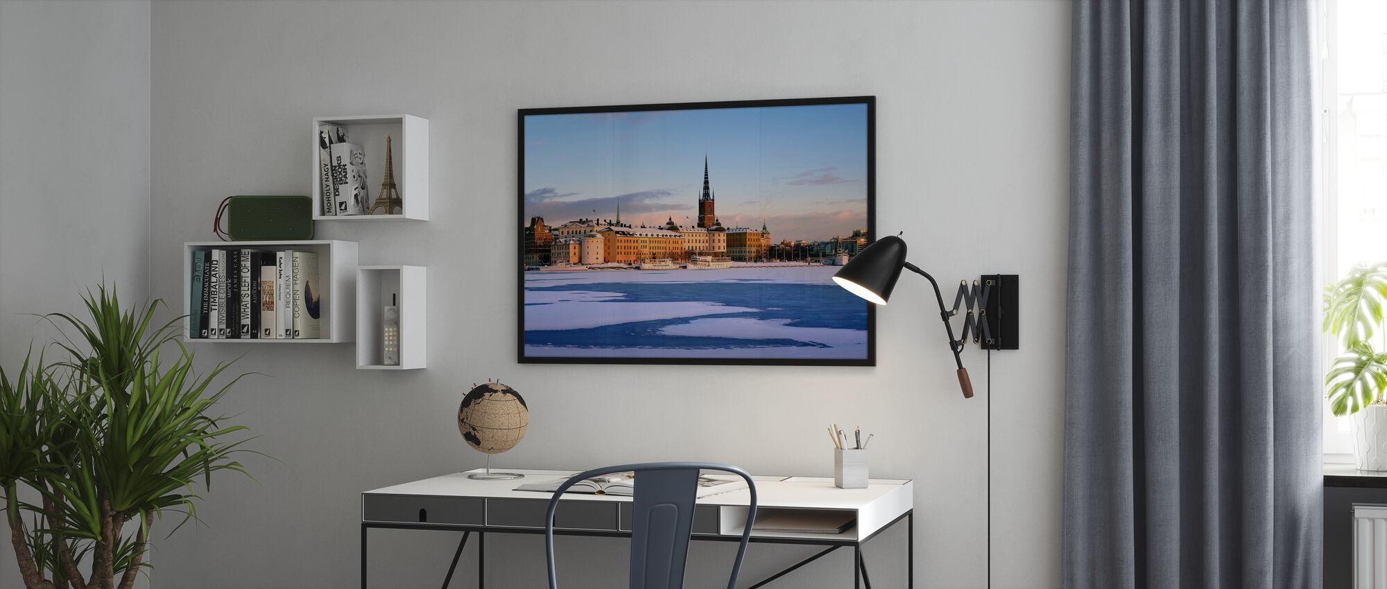 Talvi Tukholmassa, Ruotsissa - Juliste - Toimisto