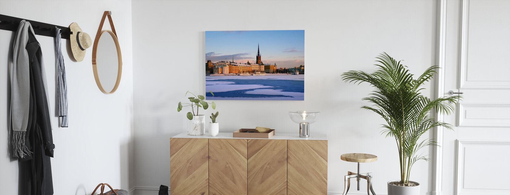 Inverno a Stoccolma, Svezia - Stampa su tela - Sala